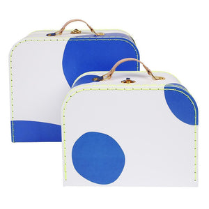 Blue Suitcase - Set of 2