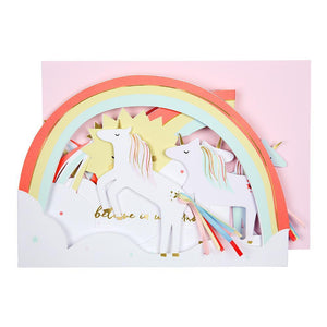 Unicorn Party <br> Concertina Card