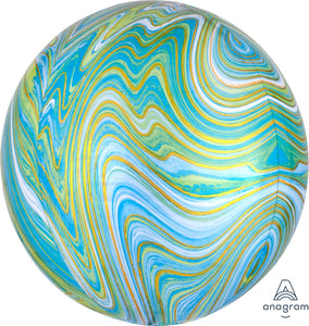 Blue Green Marble <br> Orbz Balloon
