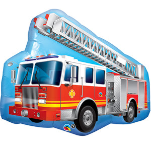 "Red Fire Engine Foil Balloon - 36""/91cm"