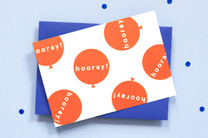 Hooray <br> greetings card