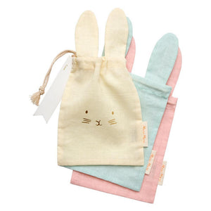 3 Cotton Bunny Gift Bags