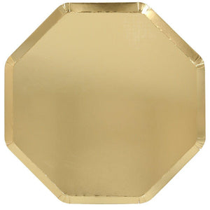 Metallic Gold <br> Dinner Plates (8)