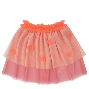 Neon Heart Tulle Skirt