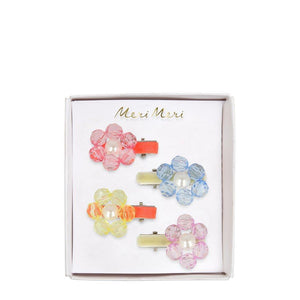 Flower Jewel Hair Clips