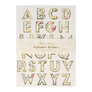 English Garden <br> Alphabet Stickers