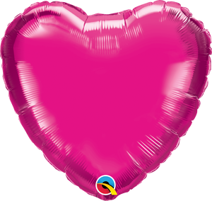 Personalised Magenta Pink <br> Heart Balloon