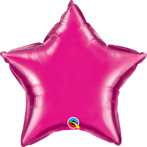 Personalised Magenta <br> Star Balloon