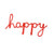 'Happy' <br> Fuscia Rope Word