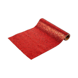 Luxe Red Glitter <br> Table Runner