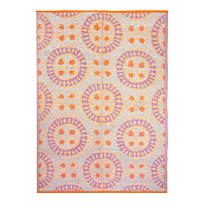 Boho Geometric Red  <br> Outdoor Rug 120cm x 180cm