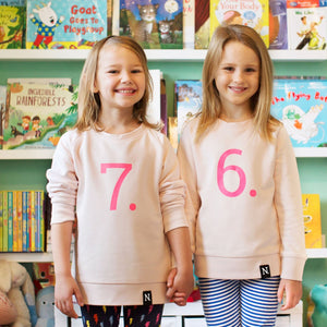 The Numbers - 7 Pink Sweatshirt