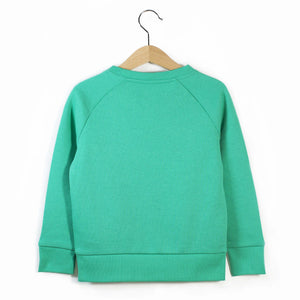 The Number 3 green sweatshirt back