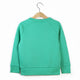 The Number 6 green sweatshirt back