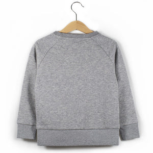 The Number 3 grey sweatshirt back