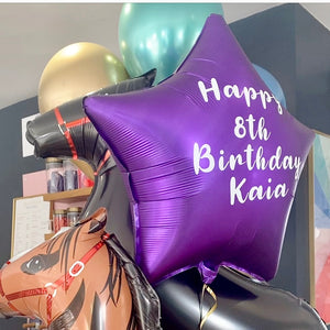 Personalised Purple <br> Star Balloon