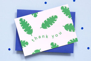 Botanical Thank You  <br> Card