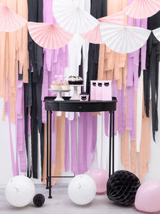 White Crepe Paper Streamers
