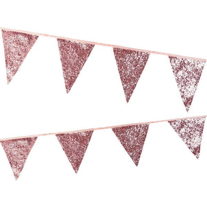 Luxe Pink <br> Glitter Bunting