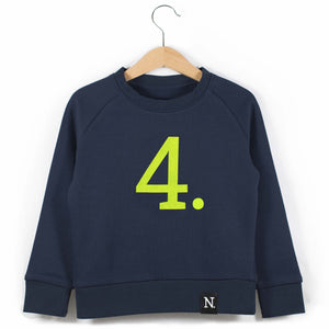 The Number 4 navy sweatshirt front
