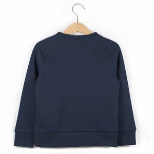 The Number 6 navy sweatshirt back