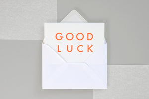 Good Luck <br> Card
