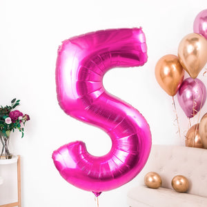 Inflated Magenta Birthday Number