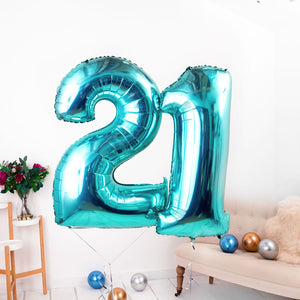 Inflated Tiffany Blue <br> Giant Birthday Number