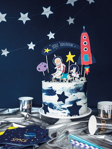 Space Party Cake Topper - 7PCS
