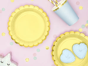 Pretty Pastel Yellow Plates