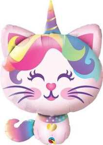 Mythical Caticorn Supershape Helium Balloon 97cm Tall