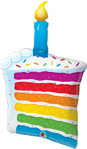 "Rainbow Cake & Candle <br> 42""/107cm Tall"