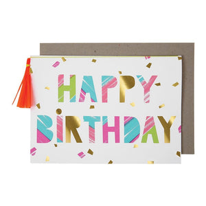 Neon Colours <br>  Happy Birthday Card