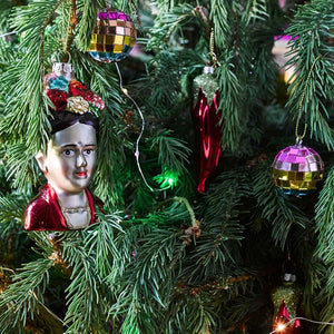 Frida Kahlo <br> Glass Tree Decoration