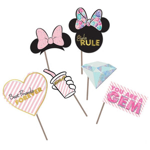 Minnie Mouse Gem Party Props