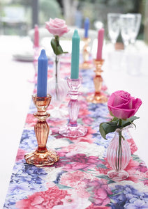 Pink Glass <br> Candle Holder