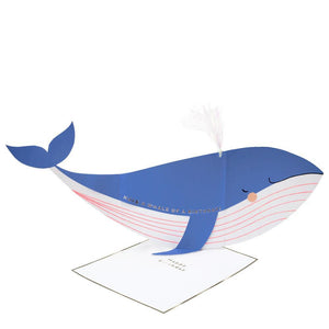 Whale Stand Up Happy Birthday Card