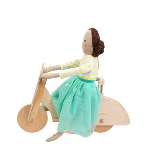 Wooden Cat Scooter Dolly Accessory