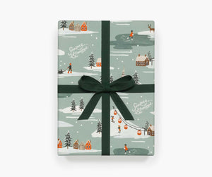 Festive Snow Scene <br> Wrap Roll