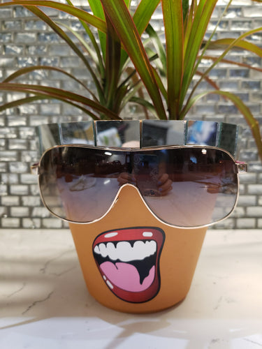 Sassy Soul Sister - Custom Pottery - Sunglasses, Mirror & Sassy Smile