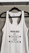 Load image into Gallery viewer, T-Shirt - Motivated By Canines and Caffeine - Womens - Vinyl