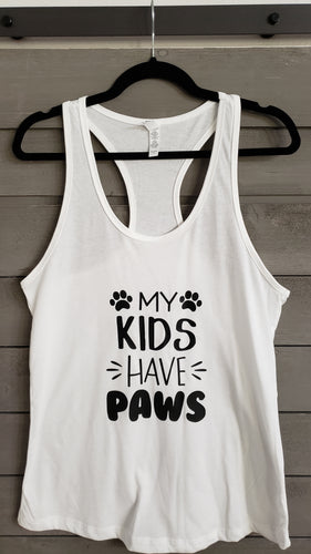 T-Shirt - My Kids Have Paws - Men - Vinyl