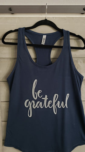 T-Shirt - Be Grateful - Womens - Vinyl