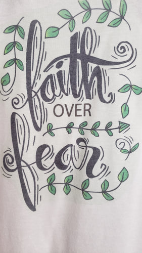 T-Shirt - Faith Over Fear - Womens - Color