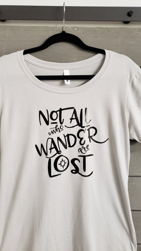 T-Shirt - Not All Who Wander - Men - Vinyl