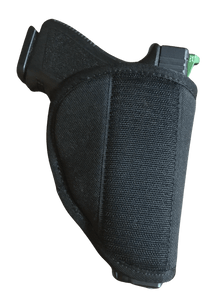 "Compact Velcro Pistol Pouch Holder -  6""h x 4.9""w x .5""d expandable to 3""d"