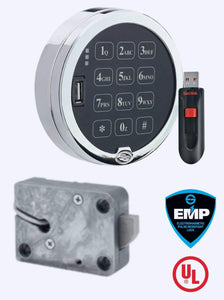 SG3006-102, Audit 2.0  Digital Platform Pivotbolt (Swingbolt) with Satin Chrome Keypad,  Complete Lock Package