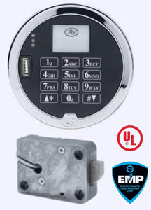 SG3006-302, Digital Time Lock  Pivotbolt (Swingbolt), with Satin Chrome Keypad, Complete Lock Package