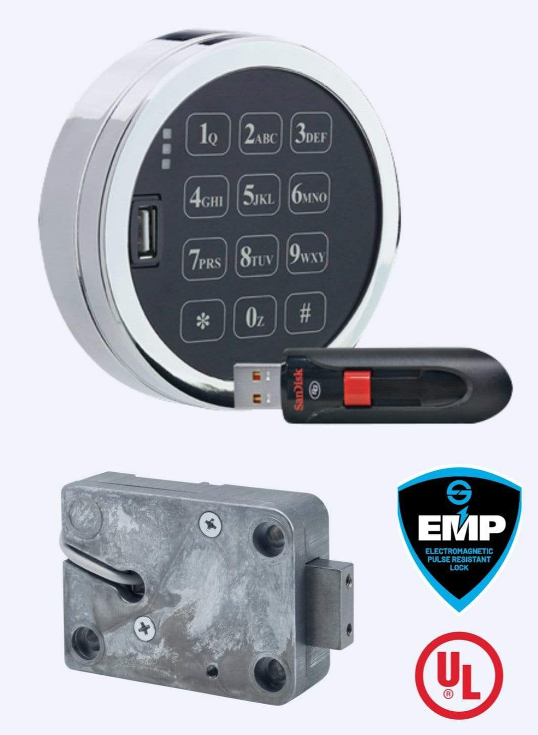 SG3007-102, Digital Platform Audit 2.0, with D-Drive, with Satin Chrome Keypad, Complete Lock Package