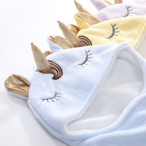 Winter Double Flannel Unicorn Baby Thick Warm Blanket